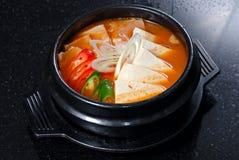 健康韩文汤 免版税库存图片
