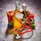 健康食品成分概念 免版税库存图片