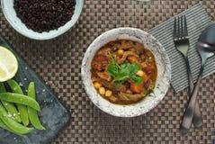 健康食品用黑米 免版税库存照片