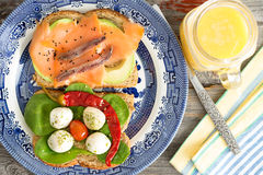 健康食家野餐午餐 库存图片