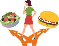 健康食物或快餐 库存图片
