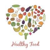 健康食物手速写了草本传染媒介框架(模板) 免版税库存照片