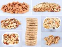 健康食物拼贴画 图库摄影