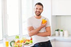 健康食物是健康生活 免版税库存照片