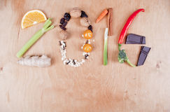 2016健康食物概念 免版税库存图片