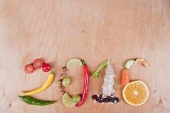 2016健康食物概念 免版税库存照片