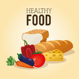 健康食物设计 有机图标 colorfull例证 库存图片