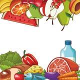 健康食物设计 皇族释放例证