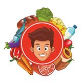 健康食物设计 库存例证