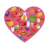 健康食物设计 向量例证