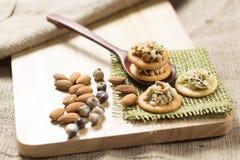 健康食物,谷物craker 免版税库存照片