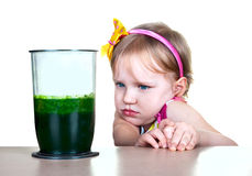 健康食物,绿色圆滑的人 库存图片