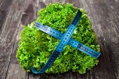 健康食物绿的抗氧化沙拉 库存图片