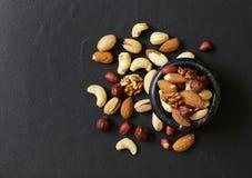 健康饮食的坚果混合 库存图片