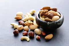 健康饮食的坚果混合 免版税库存图片