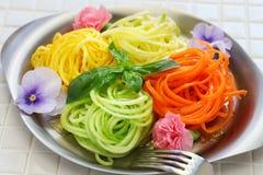 健康饮食菜面条沙拉 库存照片