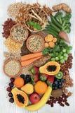 健康高纤维食物 免版税库存照片