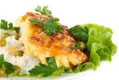 健康鲜美鸡肉菜肴 库存图片
