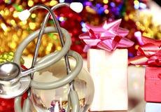 健康&个人照料在圣诞节 库存照片