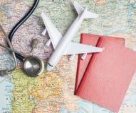 健康/医疗旅游业或者外国保险旅行 免版税库存图片