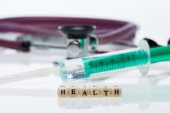 健康;听诊器 免版税库存照片