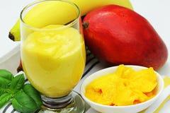 健康水果和蔬菜汁 库存照片