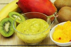 健康水果和蔬菜汁 免版税图库摄影
