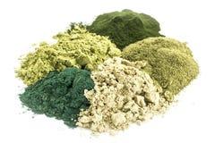 健康绿色膳食补充剂 免版税库存照片