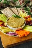健康素食开胃菜 库存照片