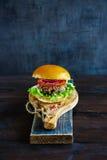 健康素食者汉堡 免版税库存图片