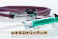 健康& x28; 在German& x29; ;听诊器 库存照片