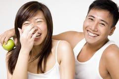 健康6对的夫妇 库存照片