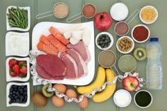 健美健康食品汇集 图库摄影