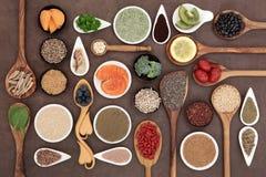 健美超级食物 免版税库存图片