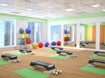 健身、体育、训练、健身房和生活方式概念 库存例证