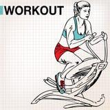 健身中心少妇锻炼 库存图片