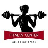 健身中心或健身房商标 库存照片