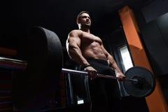 健身人举的重量 免版税库存照片