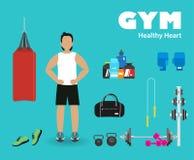 健身体育健身房 库存图片