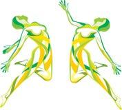 健身体育运动瑜伽 库存例证