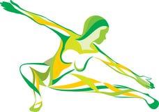 健身体育运动瑜伽 向量例证