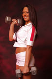 健身俏丽的妇女 免版税库存图片