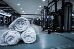 健身俱乐部内部 免版税库存图片