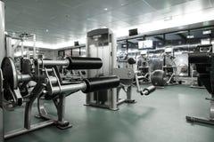 健身俱乐部在豪华旅馆里 免版税库存图片