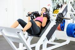 健身俱乐部的女孩 库存照片
