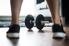 健身刺激、决心和挑战概念 库存图片
