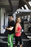 健身加上自由重量 图库摄影