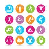 健身和健身房象 库存图片