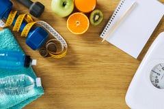 健身和减重 免版税库存图片