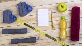 健身和饮食的设备 免版税库存照片